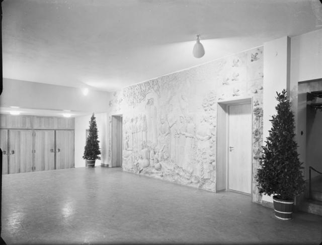 Flickläroverket på Södermalm Relief Interiör