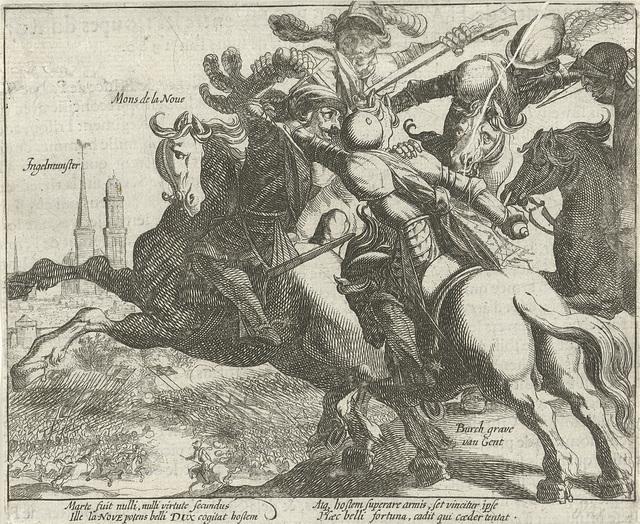 François de la Noue gevangen tijdens de slag bij Ingelmunster, 1580