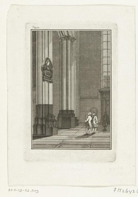 Gedenkteken voor Joost van der Vondel, overleden in 1679