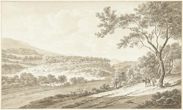 Gezicht op Palestrina, gezien vanuit de Villa Adriana