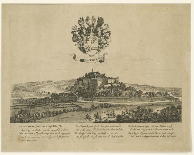 Gezicht op Slot Dillenburg, ca. 1645