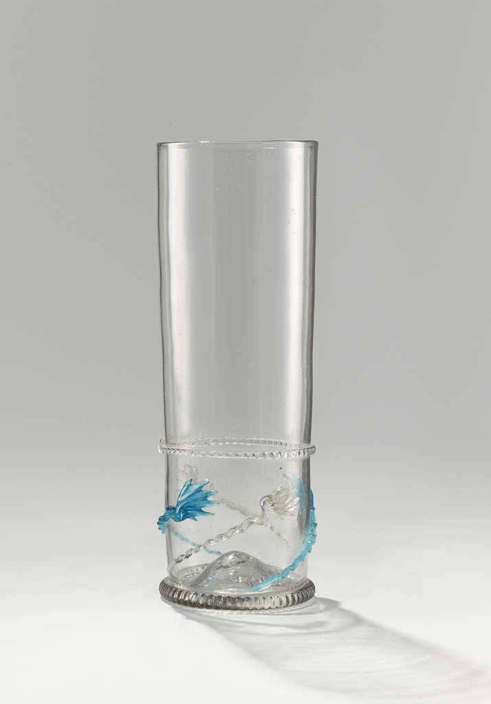 Glass, known as a 'Comet beaker'