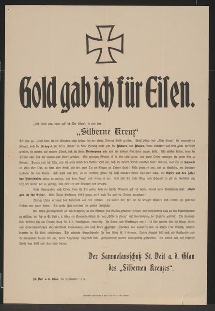 Gold gab ich für Eisen – St. Veit an der Glan
