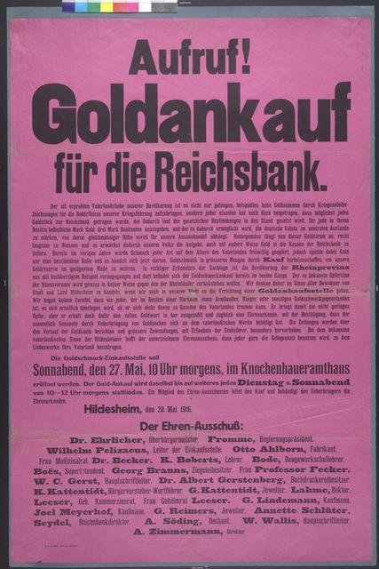 Goldankauf - Aufruf - Hildesheim