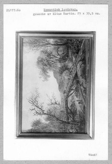 gouache (Romantiskt landskap av Elias Martin)