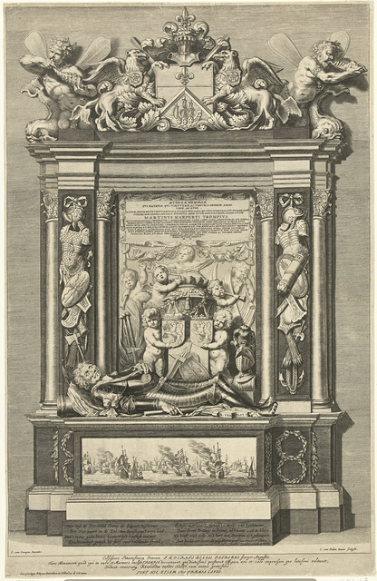 Graftombe van admiraal Maarten Harpertsz. Tromp in Oude Kerk te Delft
