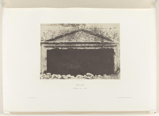 Graftombe van de rechters, bij Jeruzalem (Jérusalem / Tombeau des Juges)
