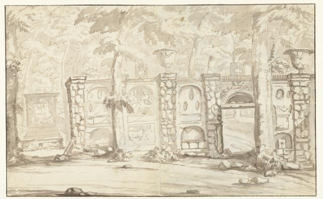 Graftombe van Johan Maurits van Nassau-Siegen en deel van amfitheater