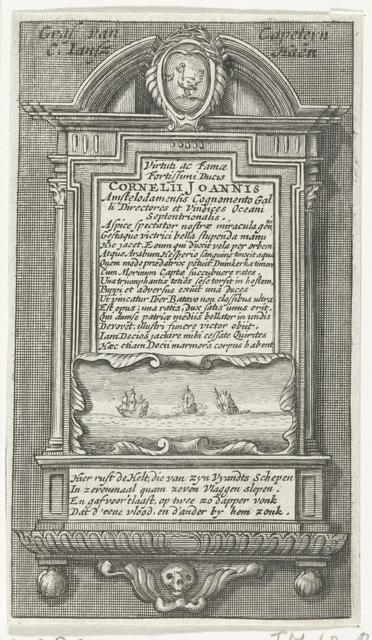 Graftombe van kapitien Cornelis Jansz de Haen, 1633