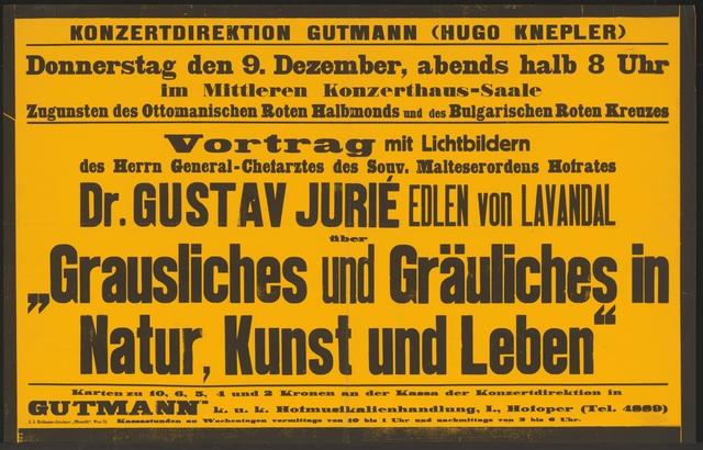 Grausliches und Gräuliches in Natur, Kunst und Leben - Vortrag - Konzerthaus