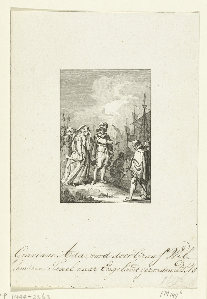 Gravin Ada door Willem I naar Engeland gezonden, 1204