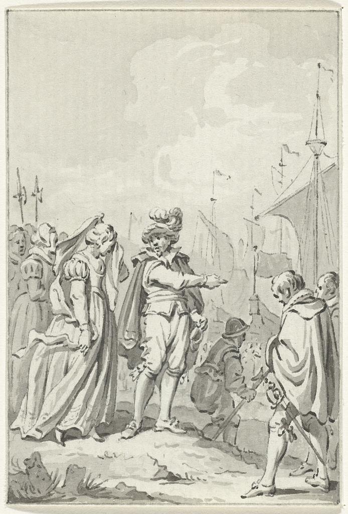Gravin Ada wordt door graaf Willem I van Texel naar Engeland gezonden, 1204