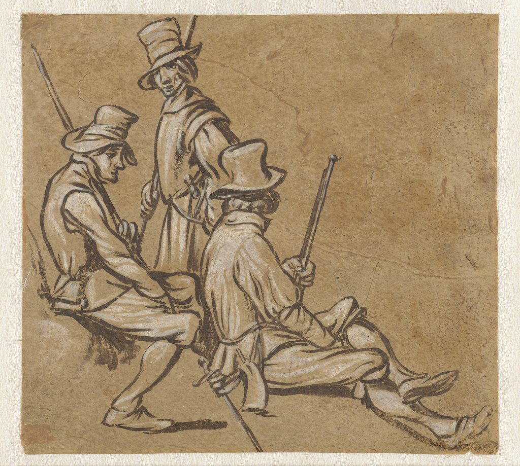 Groep van drie soldaten
