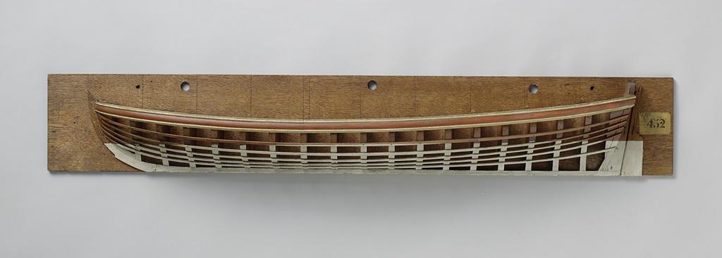 Halfmodel van een sloep