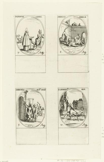 Heilige Albertus van Trapani, Heilige Marinus van Anazarbus, Heilige Demetrius en gezellen, Heilige Laurentius van Rome (7-10 augustus)