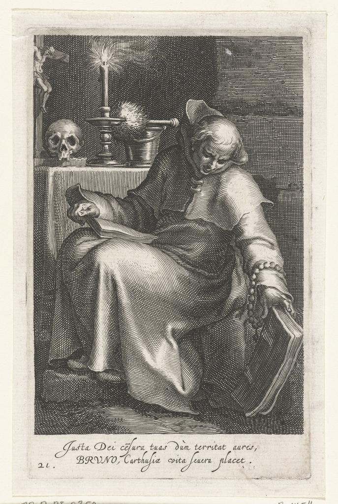 Heilige Bruno De Kartuizer Als Kluizenaar Picryl Public