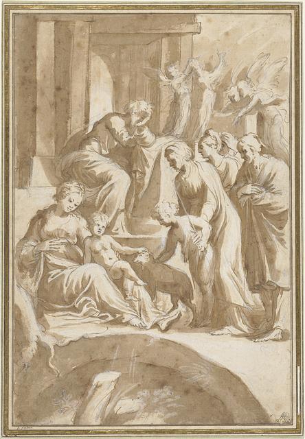 Heilige Familie met Johannes de Doper