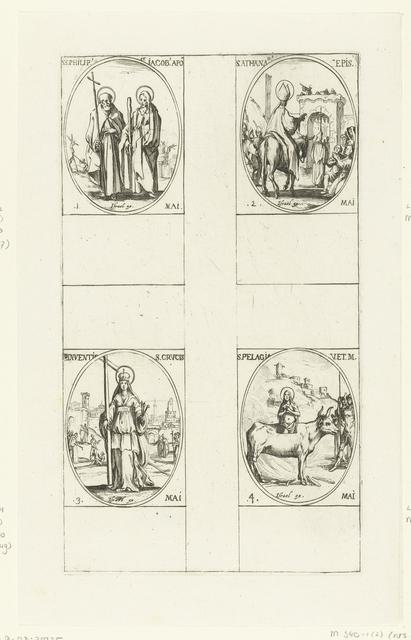 Heilige Filippus en Heilige Jakobus de Mindere, Heilige Athanasius de Grote, Kruisvinding, Heilige Pelagia van Tarsus (1-4 mei)