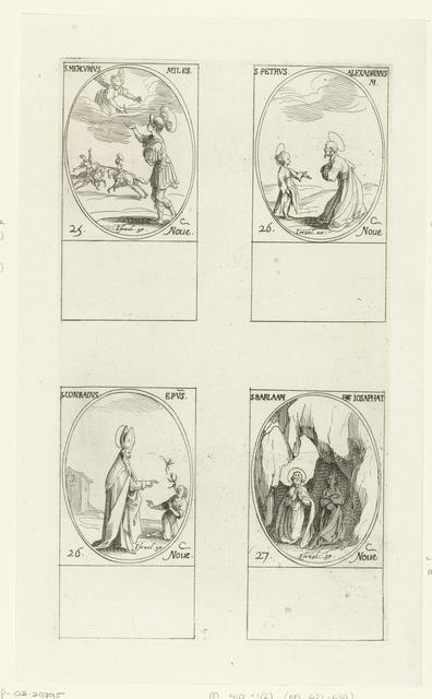 Heilige Mercurius van Cappadocië, Heilige Petrus van Alexandrië, Heilige Conradus van Konstanz, Heilige Barlaam en Heilige Josaphat van Indië (25-27 november)