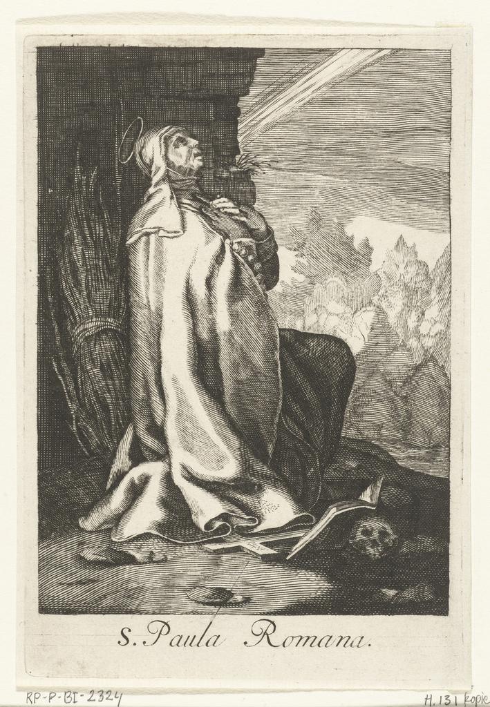 Heilige Paula van Rome als kluizenares