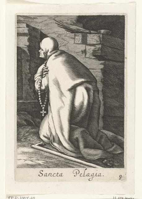 Heilige Pelagia van Antiochië als kluizenares