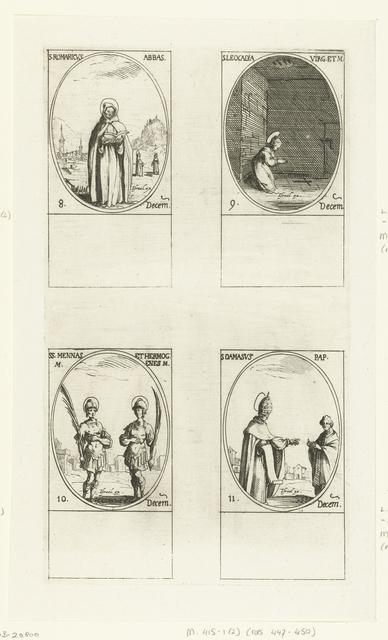 Heilige Romaricus van Remiremont, Heilige Leocadia van Toledo, Heilige Menas en Heilige Hermogenes van Alexandrië, Heilige Damasus I (8-11 december)