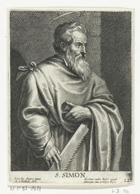 Heilige Simon Zelotes met zaag