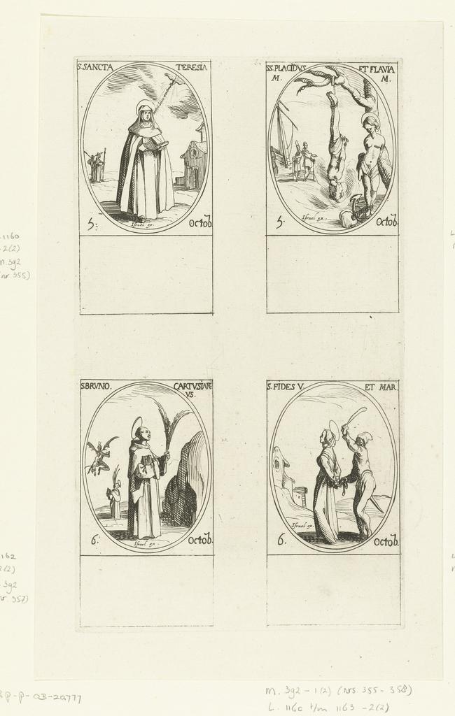 Heilige Theresia Van Avila Heilige Placidus En Heilige