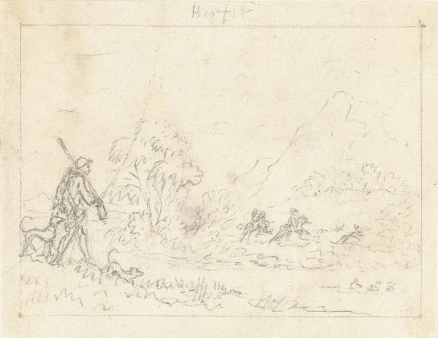 Herfst: afbeelding van de jacht