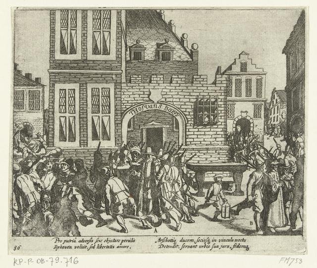Hertog van Aarschot te Gent gevangen genomen, 1577