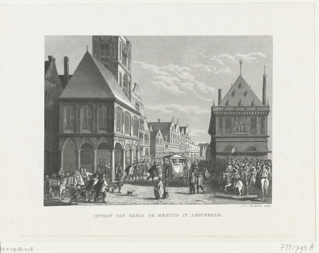 Het vertrek van de koningin Maria de Médicis uit Amsterdam, 1638