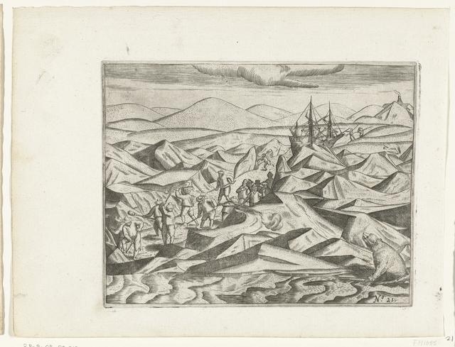 Het vrijmaken van een pad door het ijs naar de zee, 1597