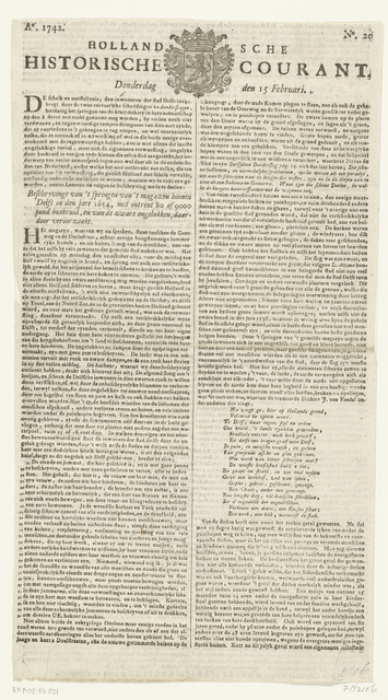 Hollandsche Historische Courant, 1742