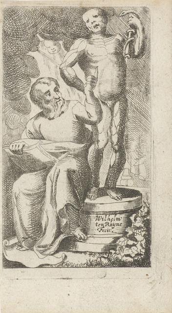 Illustratie voor de titelpagina van het boek 'Meditationes in magni Hippocratis'