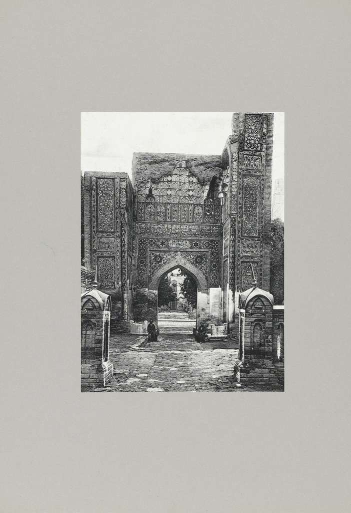 Ingang naar Moskee te Samarkand
