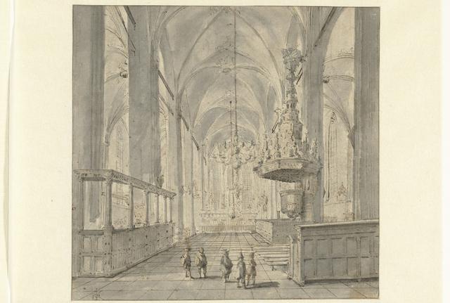 Interieur van de Sint-Michaëlskerk te Zwolle