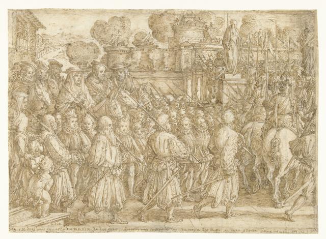 Intocht van Cosimo I Medici in Rome in 1569