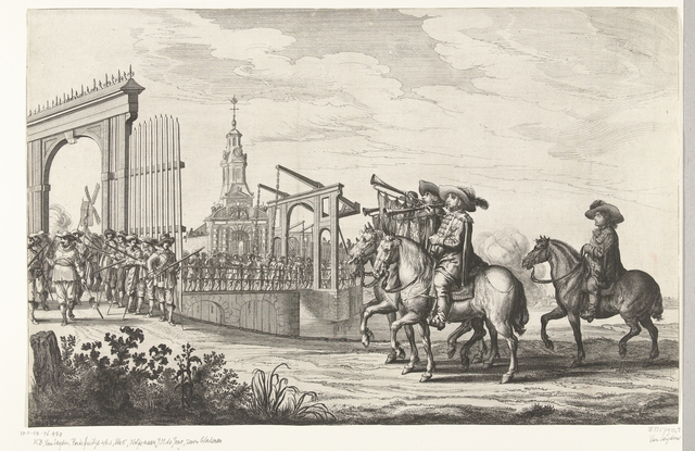 Intocht van Maria de Médicis te Amsterdam (plaat 1), 1638