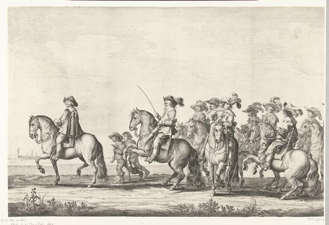 Intocht van Maria de Médicis te Amsterdam (plaat 2), 1638