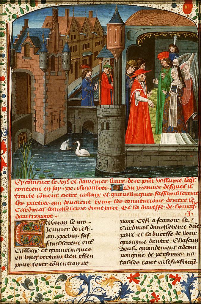 Isabella of Burgundy receives the English delegation