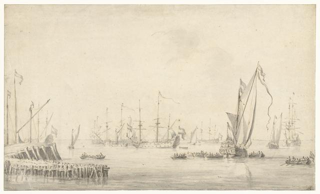 Jacht bij een vloot