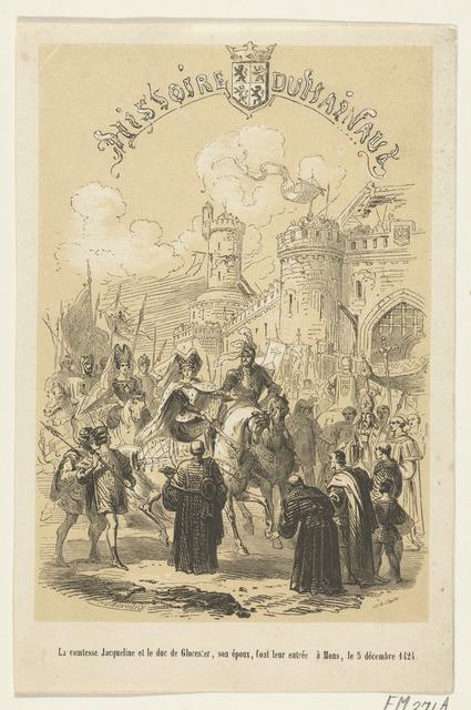 Jacoba van Beieren en de hertog van Gloucester maken hun entree te Mons, 1424