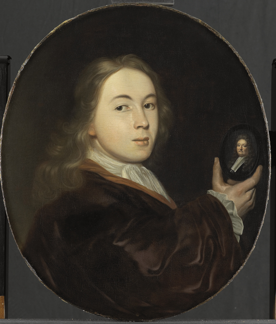 Johannes Bakhuysen with a Miniature Portrait of his Father Ludolf (Ludolf Backhuysen)