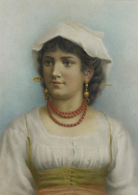 Jonge vrouw in klederdracht