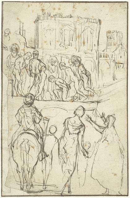 Josephus wordt door Nicanor voor keizer Vespasianus geleid