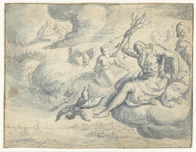 Jupiter verbant Cupido uit de hemel