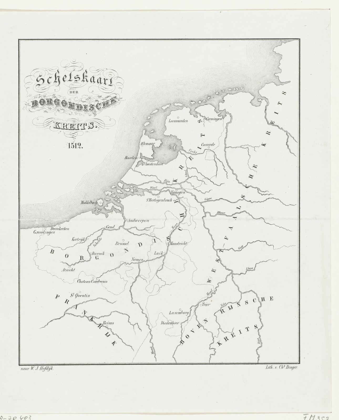 Kaart van de Bourgondische kreits, 1512