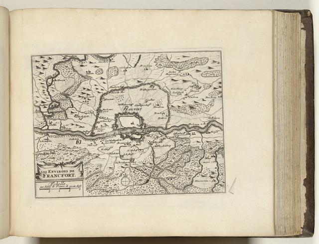 Kaart van Frankfurt am Main en omgeving, ca. 1693-1696