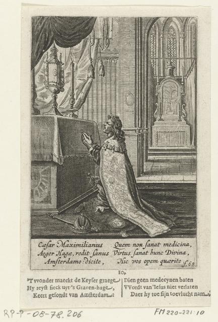 Keizer Maximiliaan bidt voor het H. Sacrament, 10