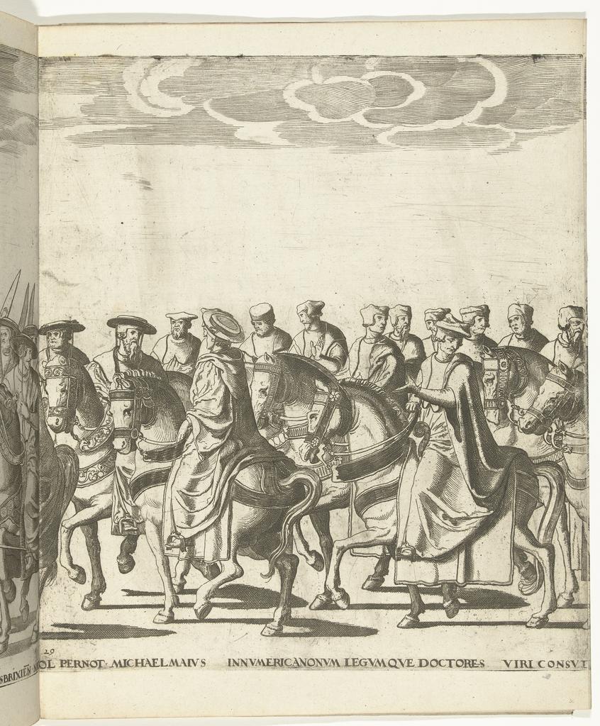 Kerkgeleerden waaronder Nicolas Perrenot de Granvelle en Michele Maio, plaat 29